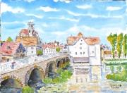 tableau villes ville : Le Loing à Moret 02 TZ 04