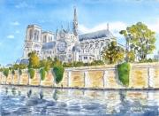 tableau architecture : Notre dame de Paris