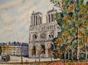 tableau architecture : Notre Dame de paris N° : 02 DS 02