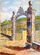 tableau architecture : portail à Ste Colombe N°:03 SZ 02