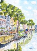 tableau paysages : Le canal.