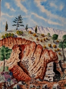 tableau paysages : La carrière Bibémus dans la Ste Victoire N°: 06 SZ 06
