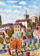 tableau paysages : Moissac-Bellevue  en Provence  N° : 02 SZ 02
