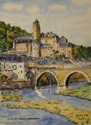 tableau paysages : Village d'Estaing en Aveyron N° : 11 SZ 01