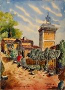 tableau architecture : Moissac Bellevue en Provence le campanile N°:02SZ04