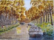 painting paysages : Le canal du Midi N° : 10 QZ 02