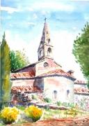 tableau architecture : L'Abbaye du Thoronet en Provence