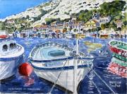 tableau marine marine bateau provence : La Calanque de Morgiou à Marseille