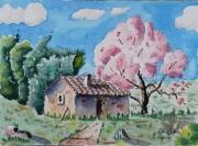 tableau paysages : Vers Roquevaire en Provence