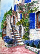 painting : House in Saint Paul of Vence