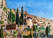 tableau paysages : Moustiers Ste Marie , la chapelle N°:05 SZ 01