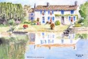 tableau paysages : Reflets sur le Marais Poitevin.