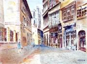 tableau villes : Le Vieux Lyon au Palais de Justice