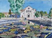 tableau architecture : L'Abbaye de Silvacane en Provence