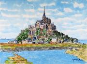tableau paysages : Le Mont St michel N°:04 SZ 07