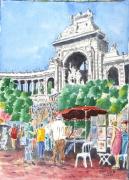 tableau villes ville marseille : Les Jardins de Longchamp à Marseille