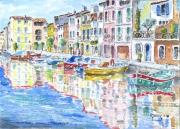 tableau marine bateau : Martigues le Miroir aux oiseaux 10 DZ 01
