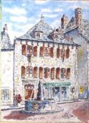 tableau architecture : Place à Laguïole - France