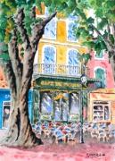 tableau scene de genre : Café de France