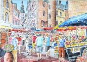 tableau scene de genre : Le marché du dimanche matin.