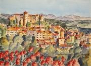 tableau villes : Caillan village du Haut Var