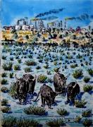 tableau animaux : La Camargue : tradition et pollution  N° : 11 DS 01