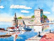 tableau : La Tour du Roy René au Vieux-Port à Marseille