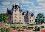 tableau architecture : Baugé château du Roy René N°:06SZ03