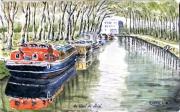tableau : Le Canal du Midi vers Toulouse