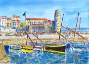 tableau marine : Colioure 10 TZ 03
