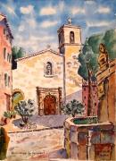 tableau architecture : Villecroze en Provence : le campanile .