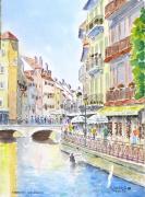 tableau paysages vieille rue : Annecy le Vieux  12 Dz 04