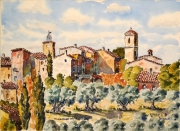 tableau paysages : Villecroze en Provence N°:02 SZ 05