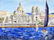 tableau marine : La Major à Marseille N° 01 QT 01