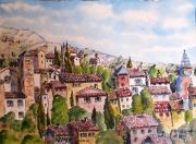 tableau paysages : Aups en Provence N°:05 SZ 06