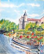 tableau paysages : Le canal du Midi