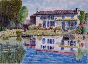 tableau paysages : Reflets sur le Marais Poitevin N°: 07 SZ 01