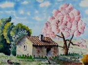 tableau paysages : Au pied du Garlaban cher à Marcel Pagnol