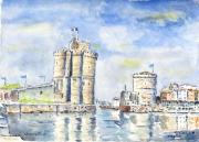 tableau marine : Le Port de La Rochelle