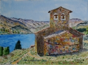 tableau architecture : chapelle de Reselend en Savoie