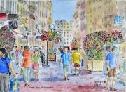 tableau : Lyon ; la rue Victor Hugo