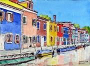 tableau marine marine italie ve : Burano à Venise