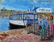 tableau marine : Le Ferry-Boat de Marseille N° : 10 QT 01