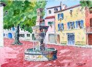 tableau : Fontaine de Mazaugues en Provence