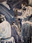 """tableau scene de genre : L'instinct du Blues """" N° 05 DS 01"""