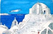 tableau paysages : Santorin