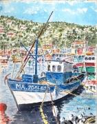 tableau marine : Le Pêcheur à terre N° : 10 QT 02