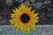 art numerique abstrait soleil : Soleil de nuit