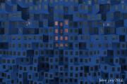 art numerique abstrait le soir tombe sur la : Le soir tombe sur la ville