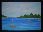 tableau : L'Ile Aux Sapins